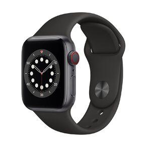 Apple Watch S6 CEL, 40mm SG Alum Case w Black Sport Bd - Rglr