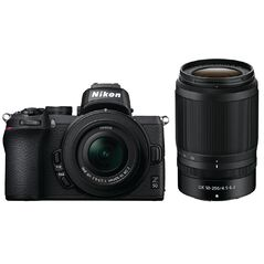 Nikon Z50 Mirrorless Camera twin Lens kit - 16-50mm & 50-250mm Lens
