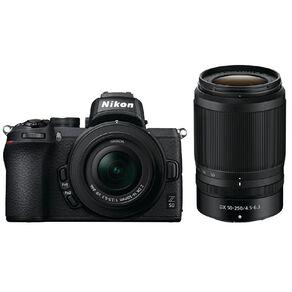Nikon Z50 Mirrorless Camera twin Lens kit - 16-50mm & 50-250mm Lens