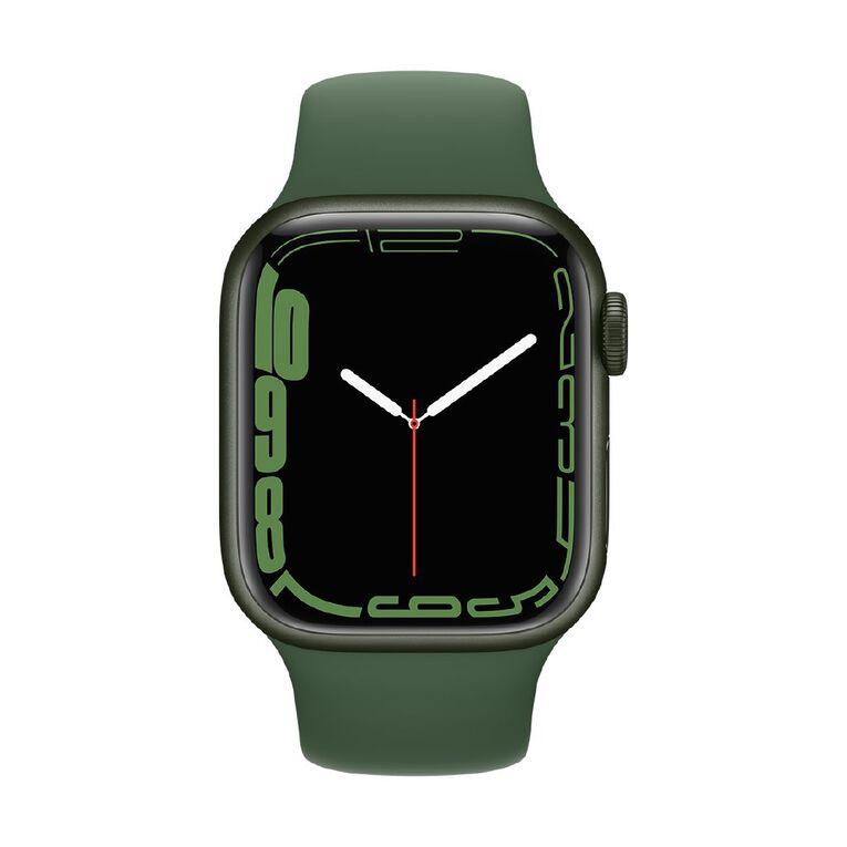 Apple Watch Series 7 GPS, 41mm Green Aluminium Case with Clover Sport Band - Regular, , hi-res