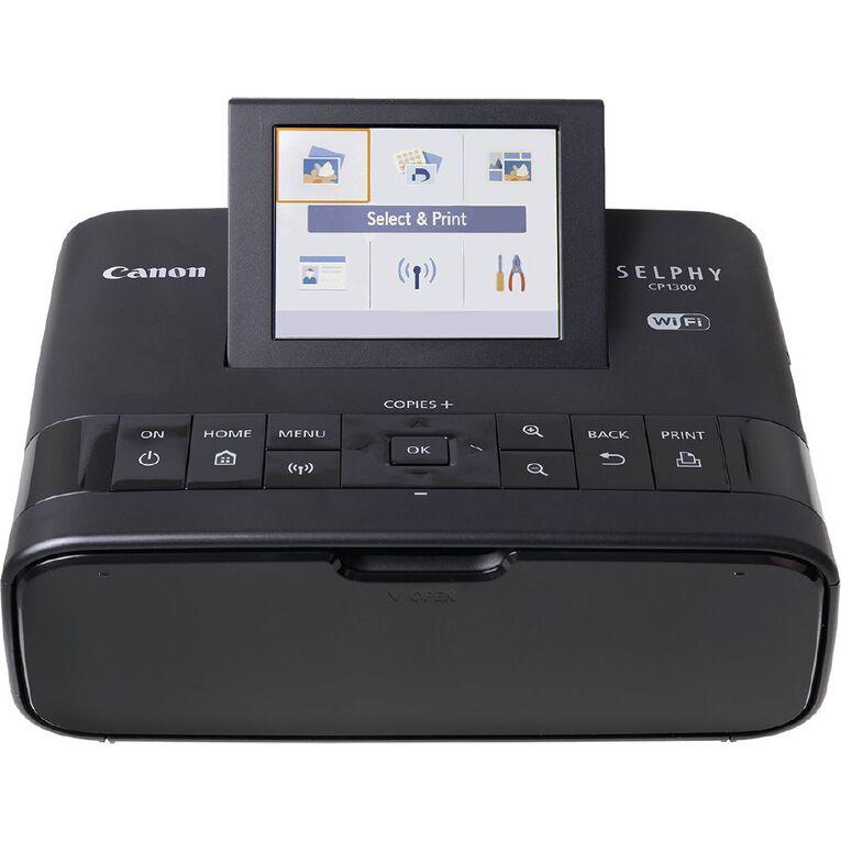 Canon SELPHY CP1300 Photo Printer Black, , hi-res