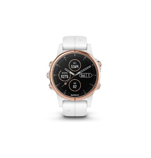 Garmin fenix 5S Plus Sapphire Rose Gold with White Band 42mm