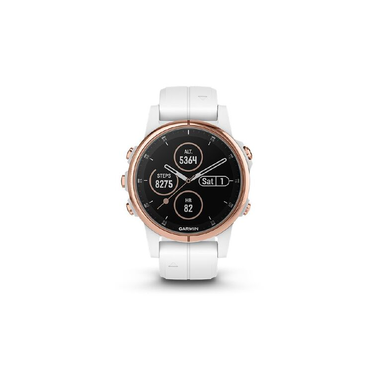 Image of Garmin fenix 5S Plus Sapphire Rose Gold with White Band 42mm