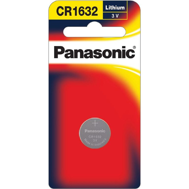 Panasonic 3V Lithium Battery 1 Pack 1632, , hi-res