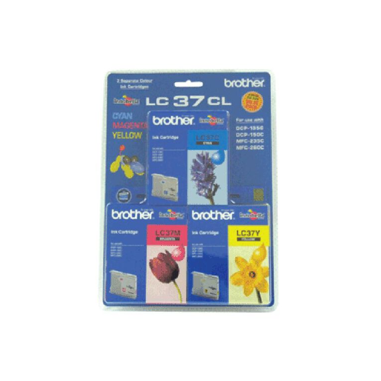 Brother LC37CL3PK Ink Tri-Colour, , hi-res