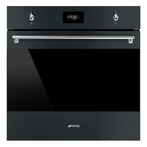 SMEG 60cm Thermoseal Self Cleaning Pyrolytic Wall Oven in Matt Black