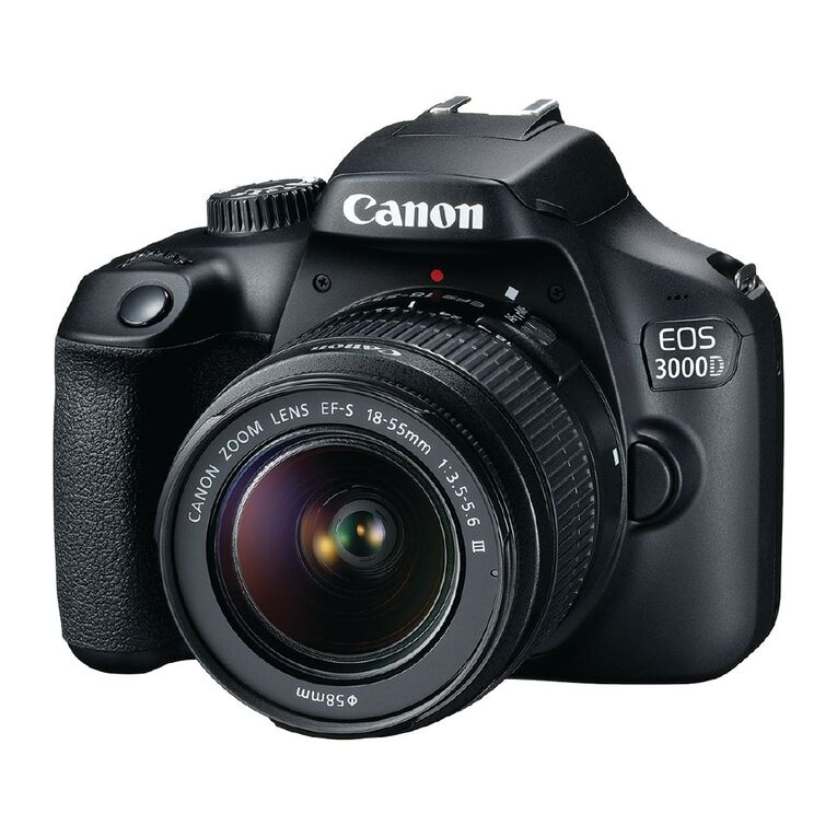 Canon EOS 3000D DSLR Camera with 18-55mm Lens, , hi-res