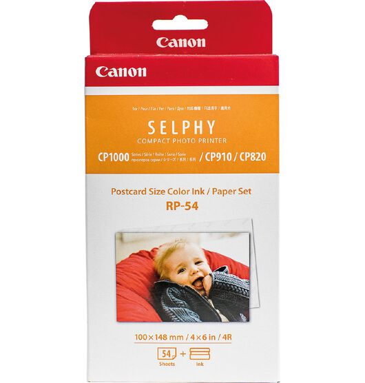 Canon RP54 Selphy Glossy Photo Paper (Small pack 54 prints)