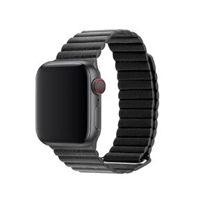 3SIXT Apple Watch Band - Leather Loop - 38/40mm - Black