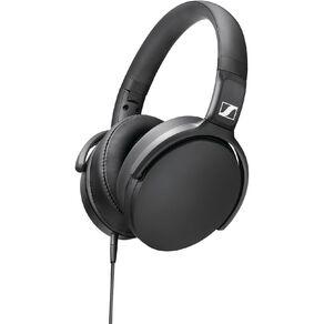 Sennheiser HD 400S Around-Ear Headphones with Mic - Black