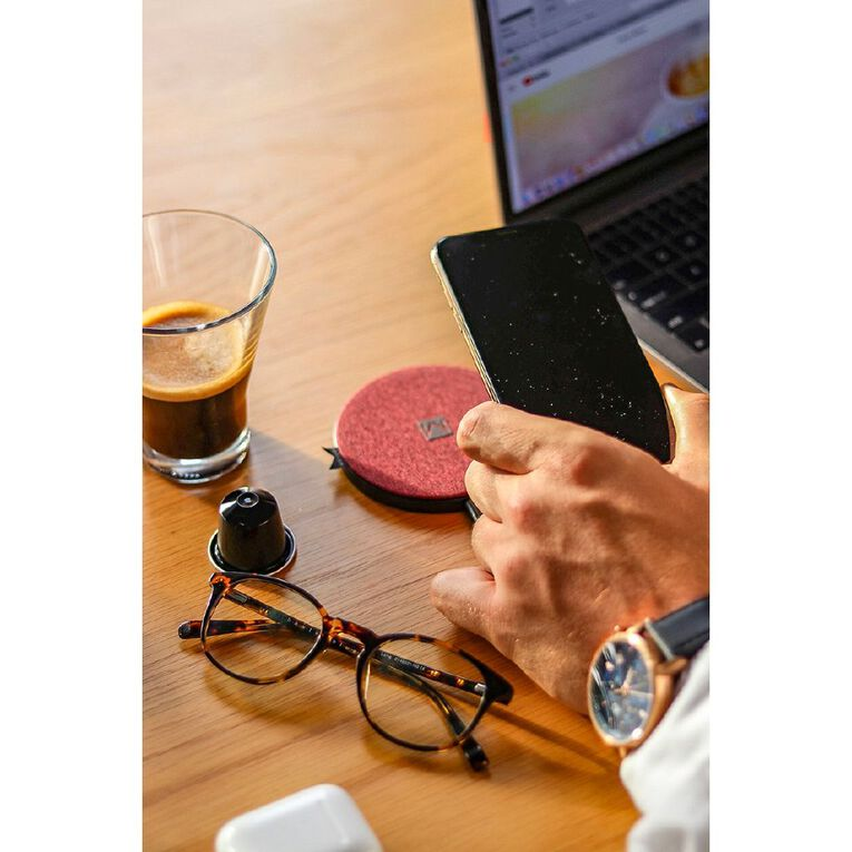 Moyork Wireless Charger - Merlot Red Fabric, , hi-res