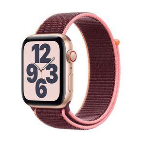 Apple Watch SE CEL, 44mm Gold Alum Case w Plum Sport Loop