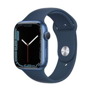 Apple Watch Series 7 GPS, 45mm Blue Aluminium Case with Abyss Blue Sport Band - Regular