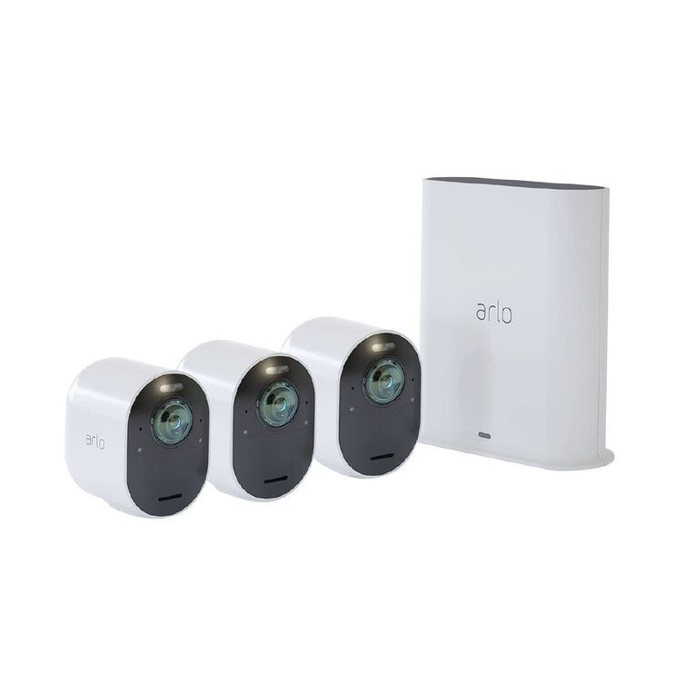 Arlo Ultra 2 Spotlight 4K UHD Camera 3Pk, , hi-res