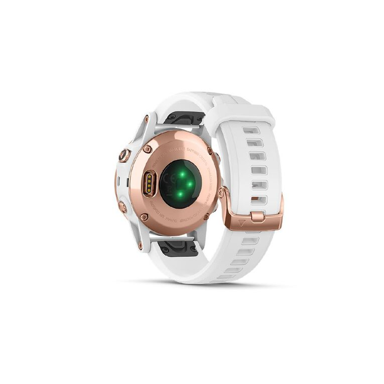 Garmin fenix 5S Plus Sapphire Rose Gold with White Band 42mm, , hi-res