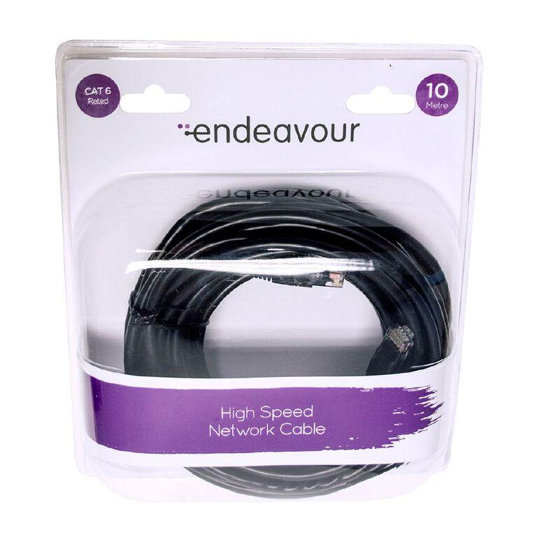Endeavour Ethernet Cable CAT6 10m Black, , hi-res