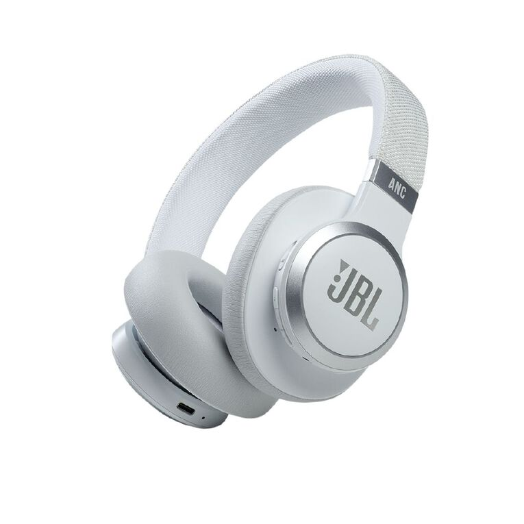 Image of JBL LIVE 660 Bluetooth Noise Cancelling Headphones - White