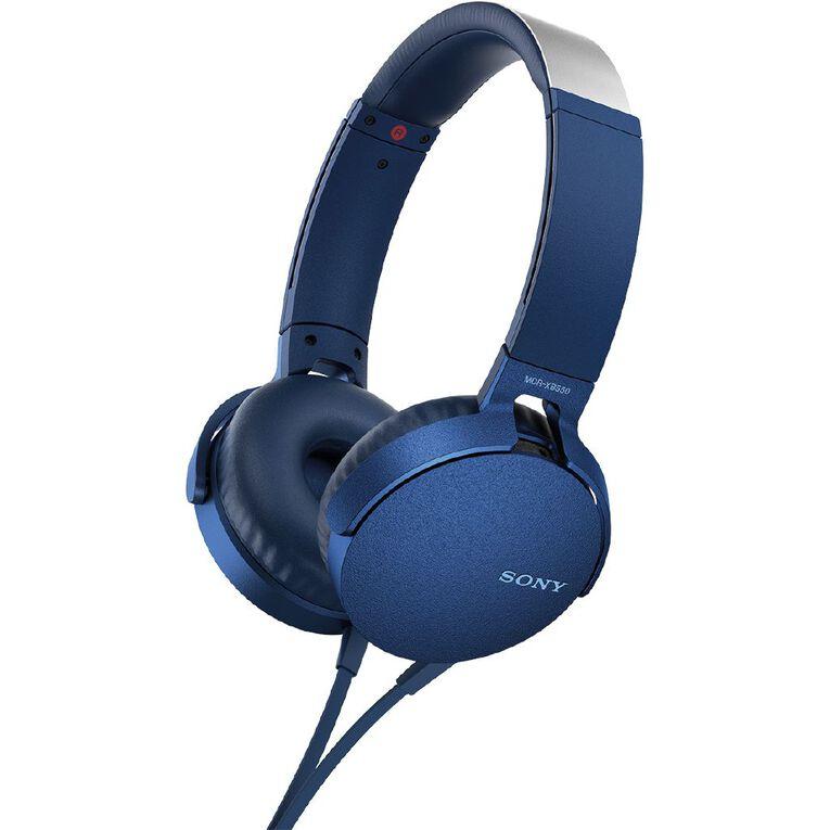 Sony XB550AP Extra Bass Headphones Blue, , hi-res