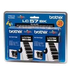 Brother LC57BK2PK Ink - Black Twin Pack