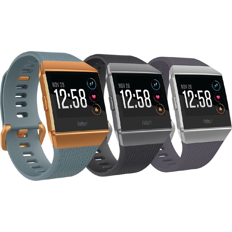 Fitbit Ionic Smart Fitness Watch Blue and Burnt Orange, , hi-res