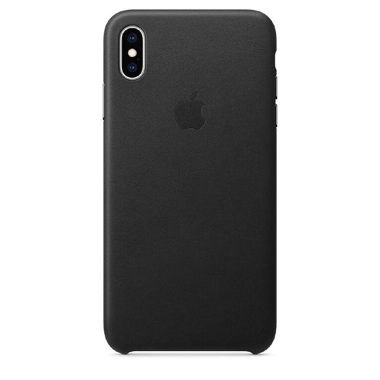 Apple iPhone XS Max Leather Case - Black, , hi-res
