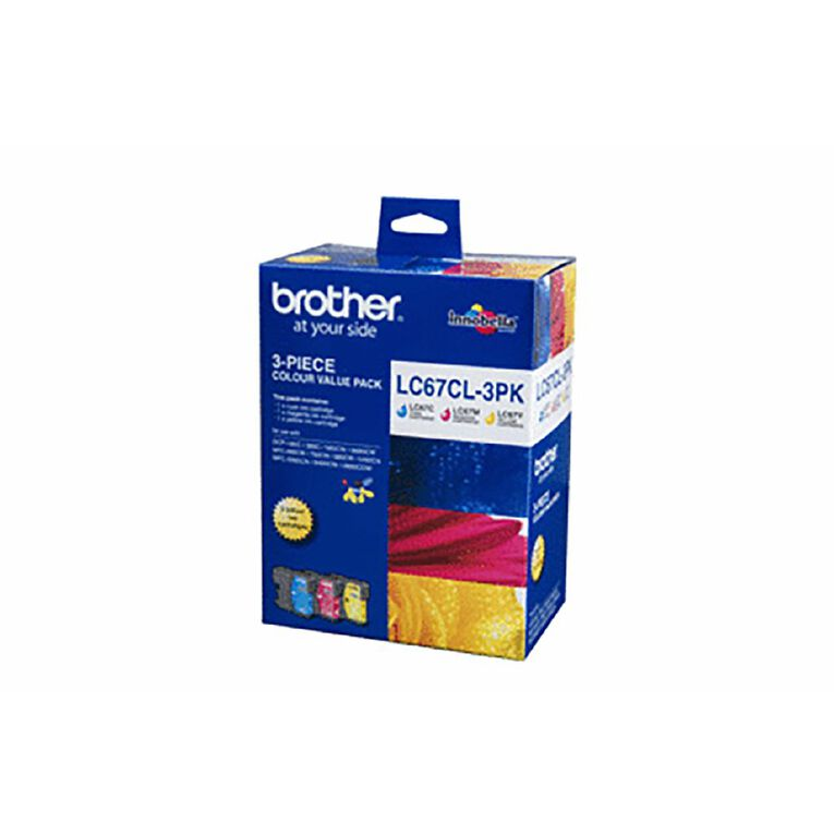 Brother LC67CL Ink Tri-Colour Pack, , hi-res