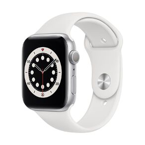 Apple Watch Series 6 44mm GPS Silver Aluminium Case with White Sport Band