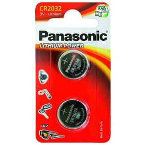 Panasonic 3V Lithium Battery 2032 2 Pack