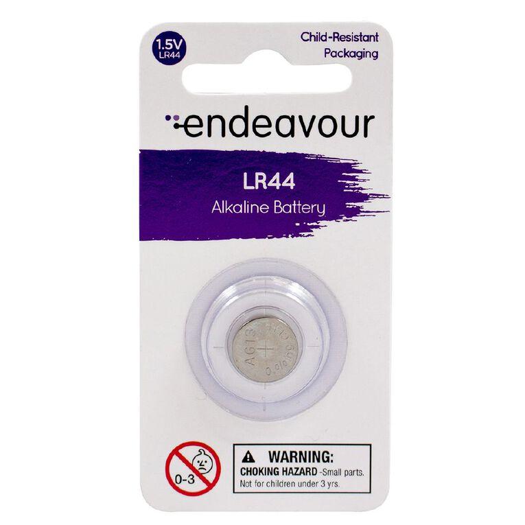 Endeavour LR44 1.5v Alkaline Button Battery, , hi-res