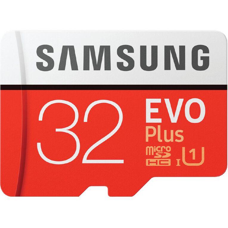 Samsung EVO Plus microSDXC Card (SD Adapter) - 32GB, , hi-res