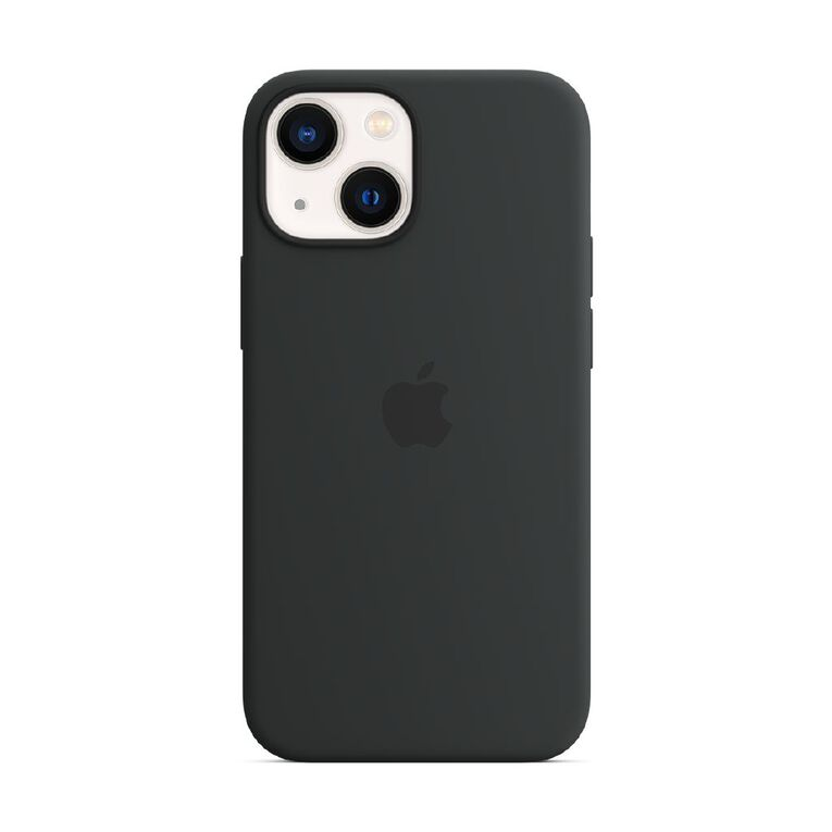 Apple iPhone 13 mini Silicone Case with MagSafe - Midnight, , hi-res