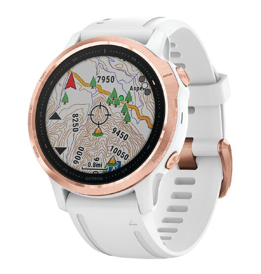 Garmin Fenix 6S Pro Rose Gold with White Band