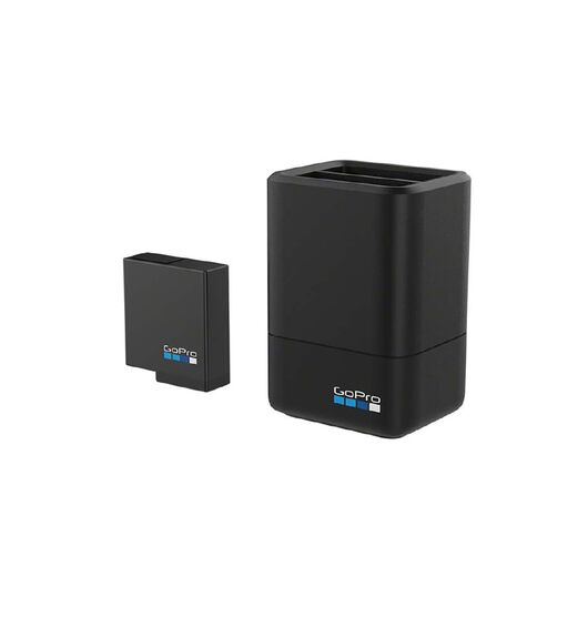 GoPro Dual Battery Charger + Battery for Hero 5, 6 and 7 Black