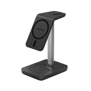 Alogic Journey MagSafe Compatible 3-in-1 Wireless Charging Stand Bundle (with 18W Wall Charger) - Black