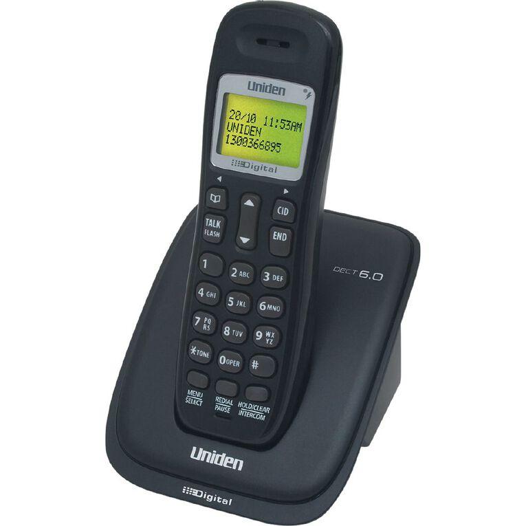 Uniden DECT1015 Single Cordless Phone - Black, , hi-res