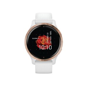 Garmin Venu 2S Rose Gold Bezel with White Case and Silicone Band