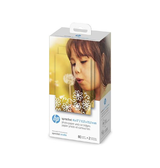 "HP Sprocket 4x6"" Photo Paper & Cartridges"