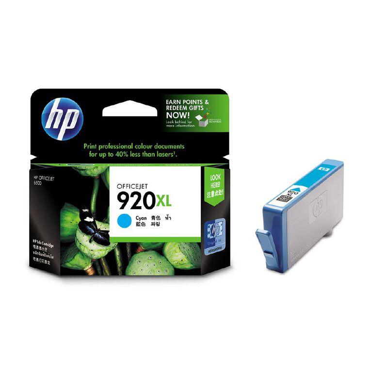 HP 920XL Cyan Officejet Ink Cartridge CD972AA, , hi-res
