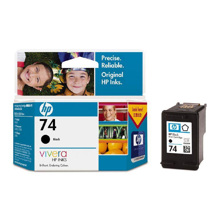 HP No.74 Ink - Black, , hi-res