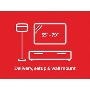 """Tech Solutions TV Delivery & Set Up with Wall Mounting 55"""" - 79"""""""