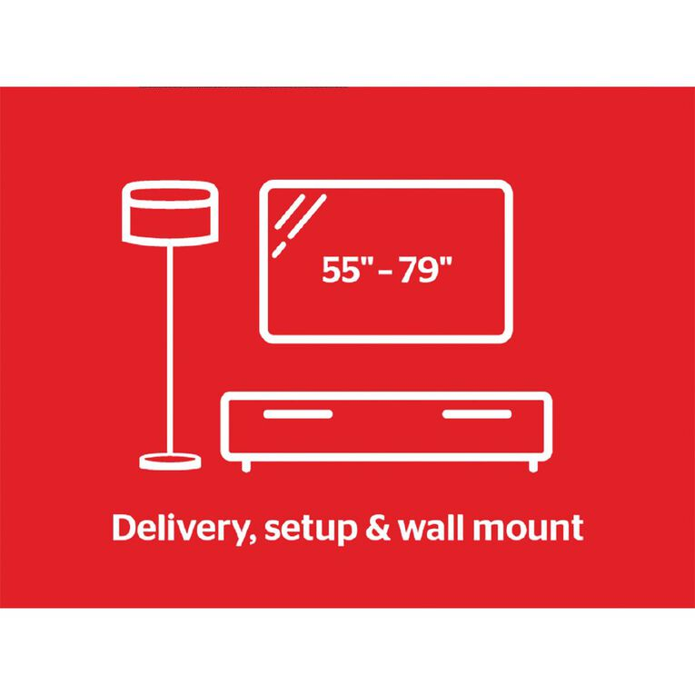 """Tech Solutions TV Delivery & Set Up with Wall Mounting 55"""" - 79"""", , hi-res"""