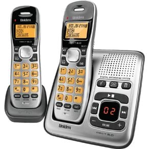 Uniden DECT1735+1 Digital DECT Cordless Phone with Answer Machine - Twin