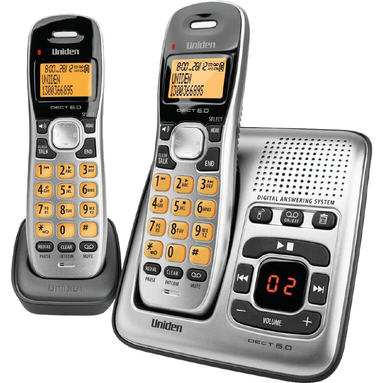 Uniden DECT1735+1 Digital DECT Cordless Phone with Answer Machine - Twin, , hi-res