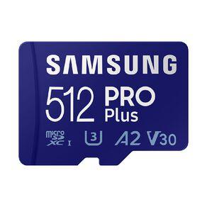 Samsung 512GB PRO Plus MicroSD Card w/Adapter