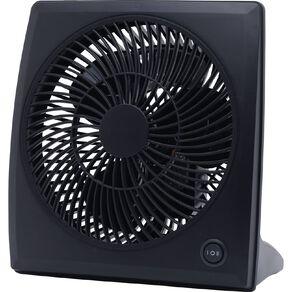Goldair 23cm Box Fan - Black