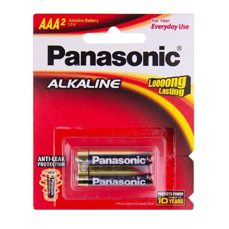 Panasonic AAA Size Alkaline Batteries 2 Pack, , hi-res