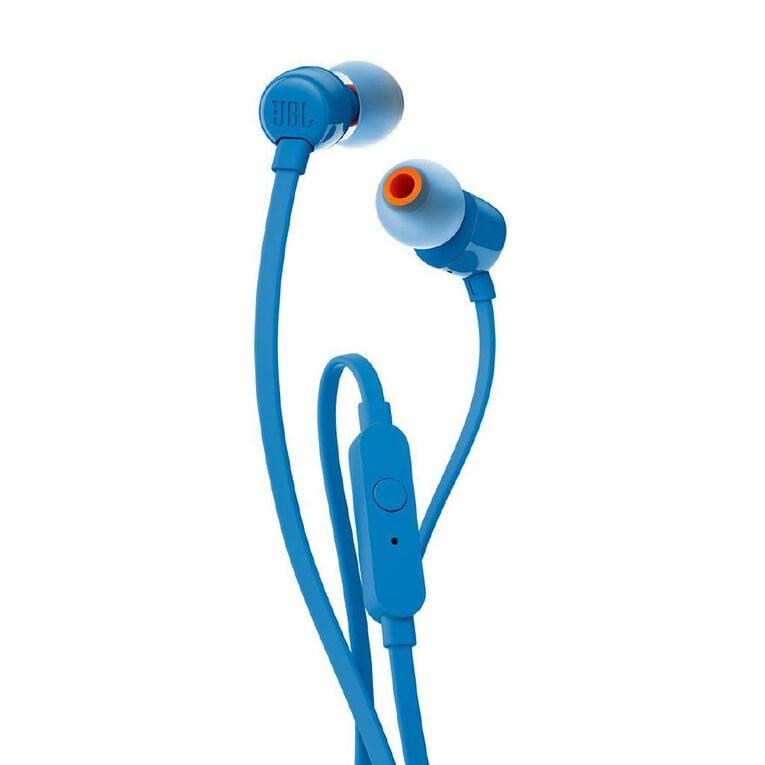 JBL T110 In Ear Headphones - Blue, , hi-res