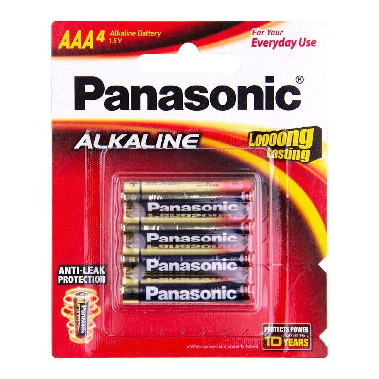 Panasonic AAA Size Alkaline Batteries 4 Pack, , hi-res