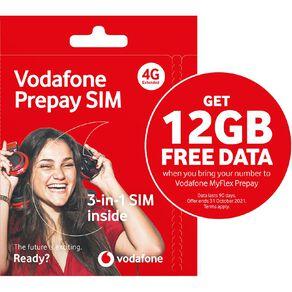 Vodafone Prepay Triple SIM Pack