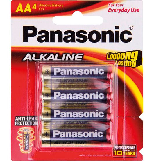 Panasonic AA Size Alkaline Batteries 4 Pack